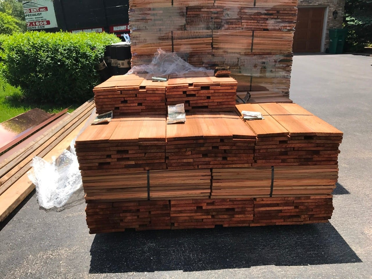 Cedar is a durable and long lasting material that will look great on your roof
