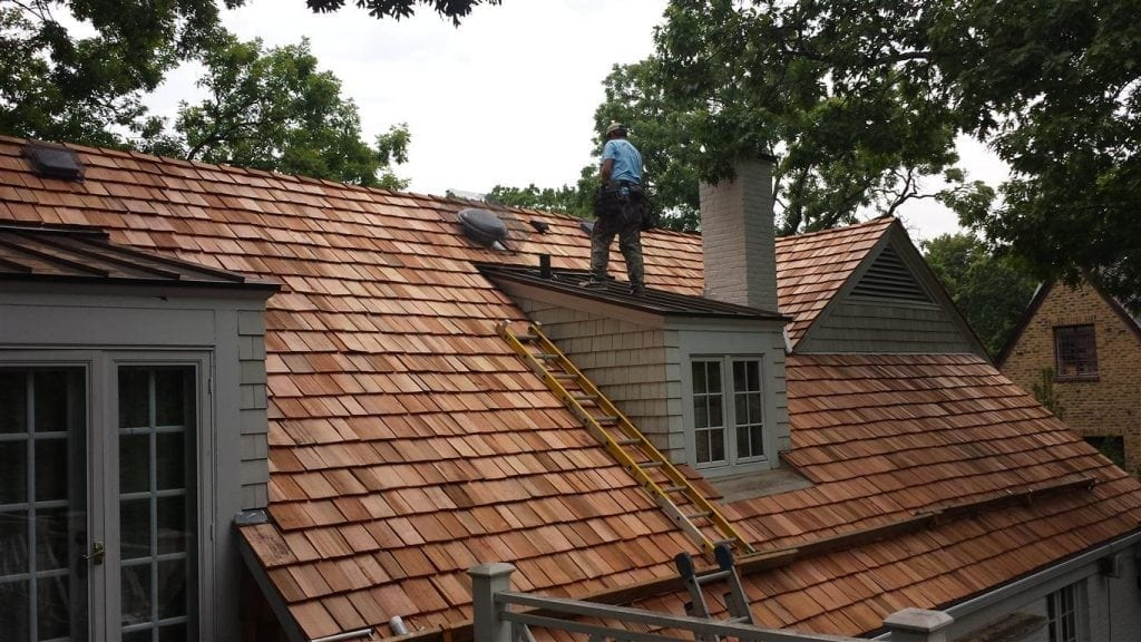 Cedar roofing repair in Barrington IL