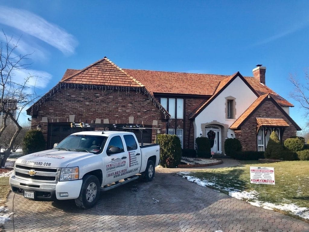 The installation of cedar roofing in Kildeer IL