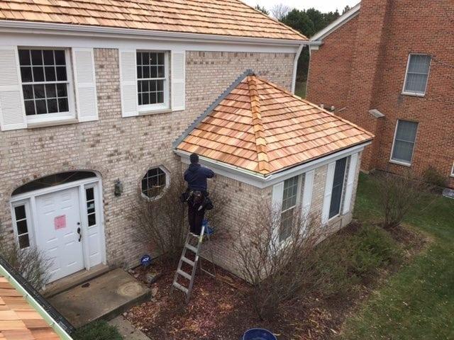 Cedar roof repair Winnetka