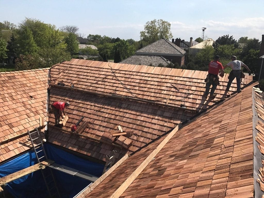 It is advised that a cedar roofing installation is only undertaken by professionals.