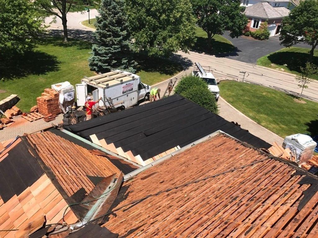 Cedar Shake Roof Installation